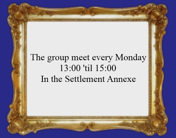 The group meet every Tuesday 12 until 2pm in the annex